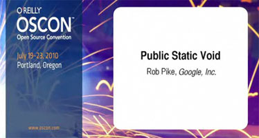 Rob Pike - Public Static Void